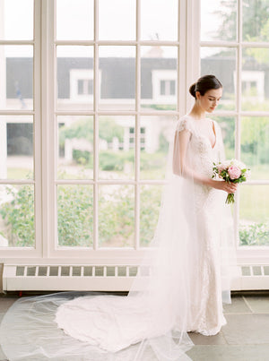 DEVON | Sheer Bridal Cape