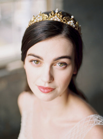 ELEANOR | Gold Bridal Crown - Noon on the Moon