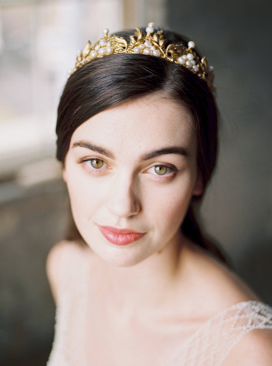 ELEANOR | Gold Bridal Crown