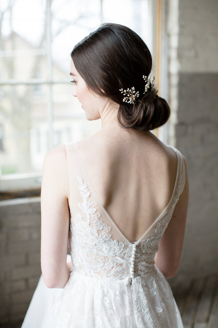 ELYSE | Bridal Hair Pins | Noon on the Moon