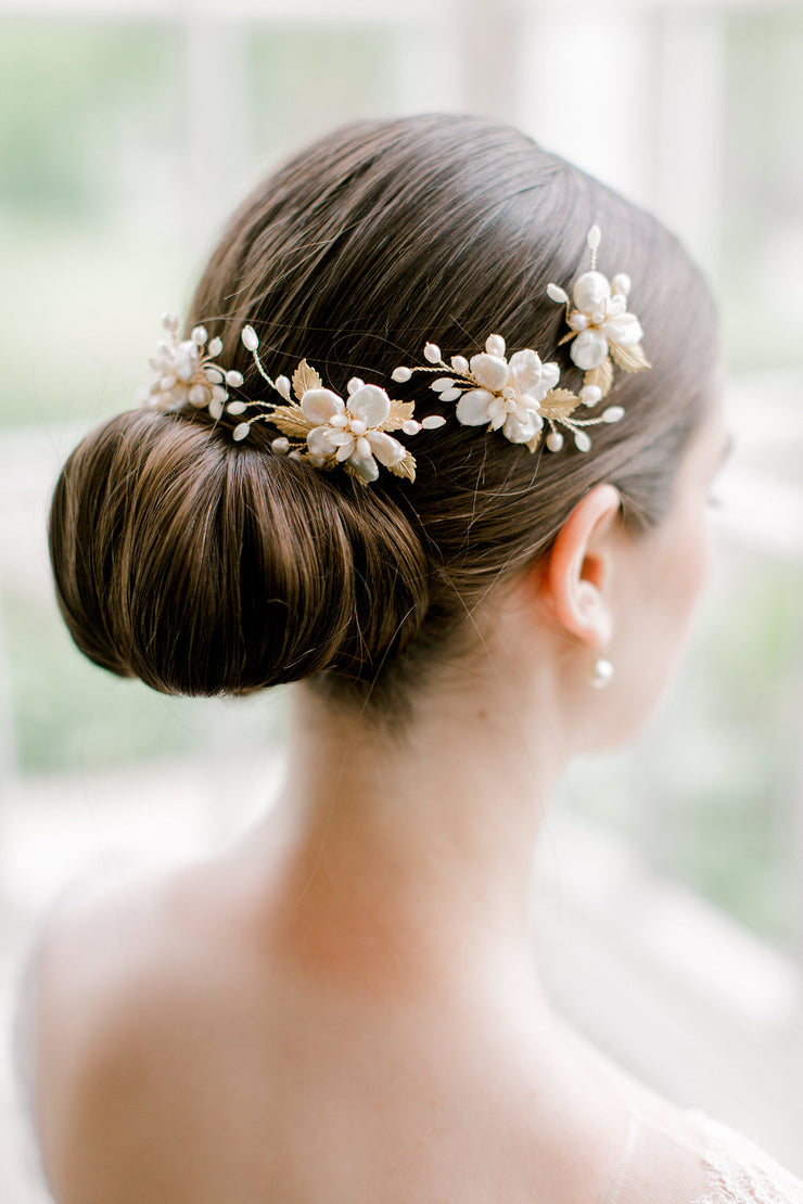EMI | Pearl Bridal Hair Pins - Noon on the Moon