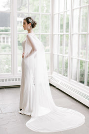 ESTELLE | Silk Bridal Cape
