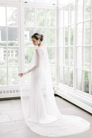 ESTELLE | Silk Bridal Cape - Noon on the Moon