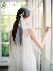 EVELYN | Draped Wedding Veil | Noon on the Moon
