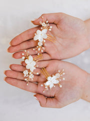 FLORIE | Bridal Hair Combs | Noon on the Moon