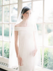 GABRIELLE | English Silk Tulle Wedding Veil