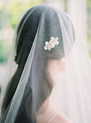 GABRIELLE | English Silk Tulle Wedding Veil - Noon on the Moon