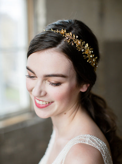 GENEVIEVE | Gold Flower Crown | Noon on the Moon