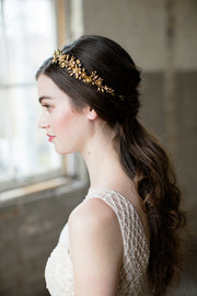 GENEVIEVE | Gold Flower Crown - Noon on the Moon