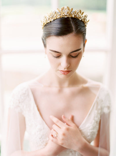 GLORIA | Gold Bridal Crown | Noon on the Moon