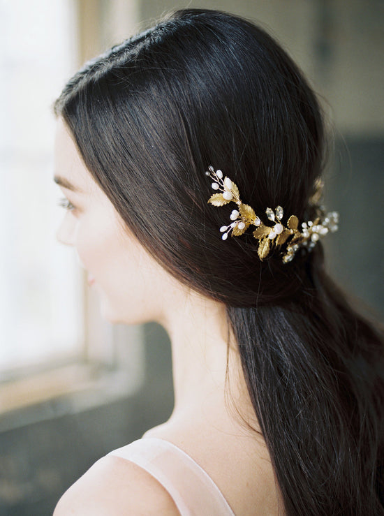 GODIVA | Gold Bridal Headpiece