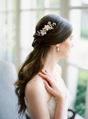 ILSE | Floral Bridal Comb - Noon on the Moon