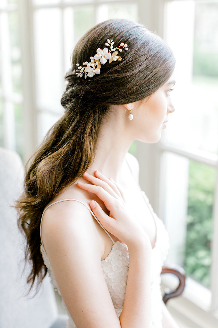 ILSE | Floral Bridal Comb | Noon on the Moon