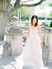 IRIS | Floral Ball Gown Wedding Dress - Noon on the Moon