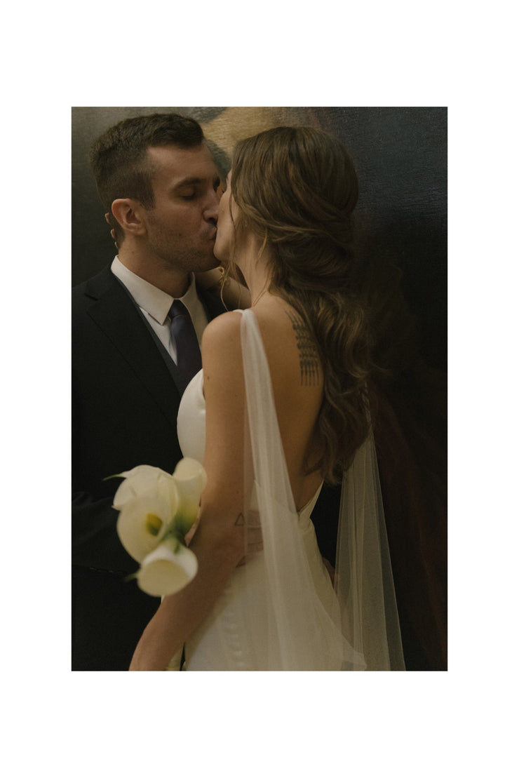 JANNA | Draped Bridal Cape | Noon on the Moon