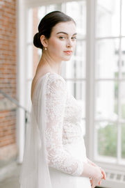 JANNA | Draped Bridal Cape - Noon on the Moon