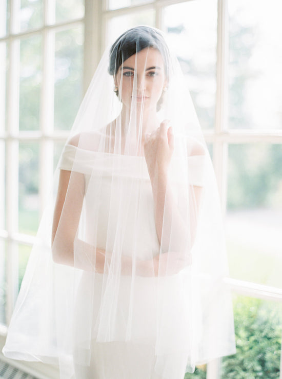 JENNY | Sheer Wedding Veil with Blusher
