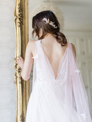 JOIE | Pink Bridal Cape with Butterflies | Noon on the Moon