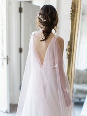 JOIE | Pink Bridal Cape with Butterflies - Noon on the Moon