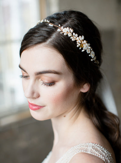KALEA | Floral Wedding Headpiece - Noon on the Moon