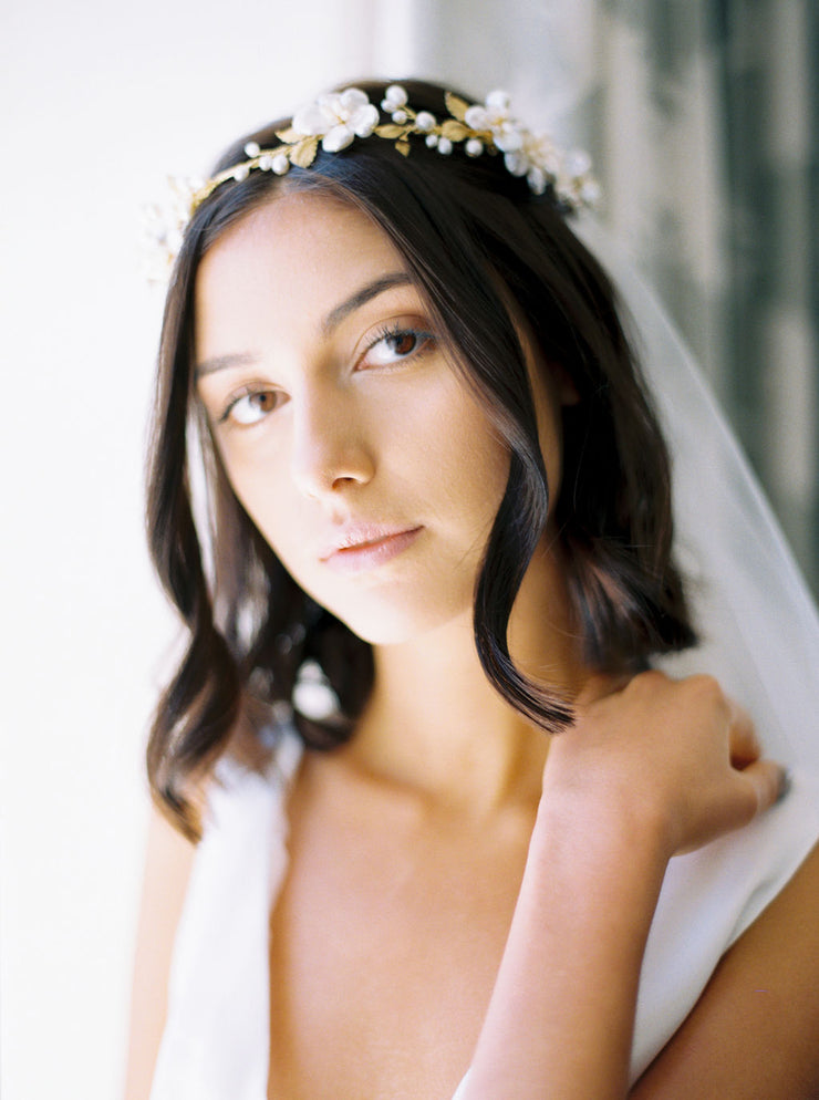 KARIN | Floral Wedding Headpiece - Noon on the Moon