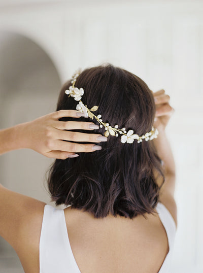 KARIN | Floral Wedding Headpiece