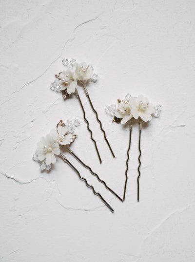 LACI | Floral Wedding Hair Pins - Noon on the Moon