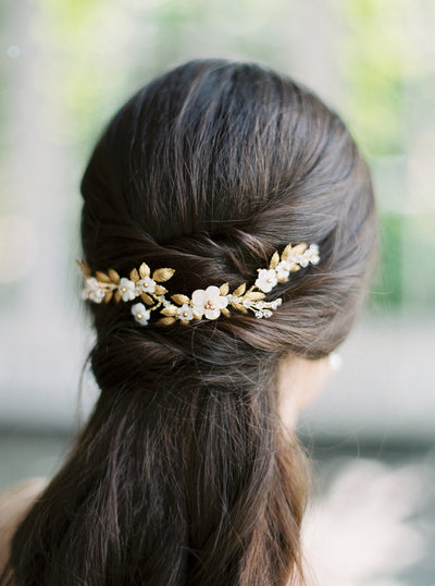 LAUREL | Gold Bridal Headpiece | Noon on the Moon