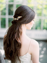 LAUREL | Gold Bridal Headpiece