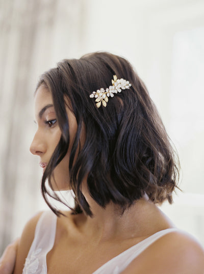 LIA | Floral Wedding Comb