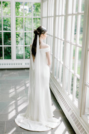 MARIANNA | Silk Draped Wedding Veil - Noon on the Moon