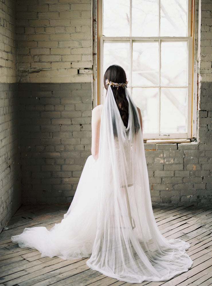 MARIA | Silk Draped Wedding Veil - Noon on the Moon