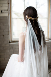 MARIA | Silk Draped Wedding Veil | Noon on the Moon