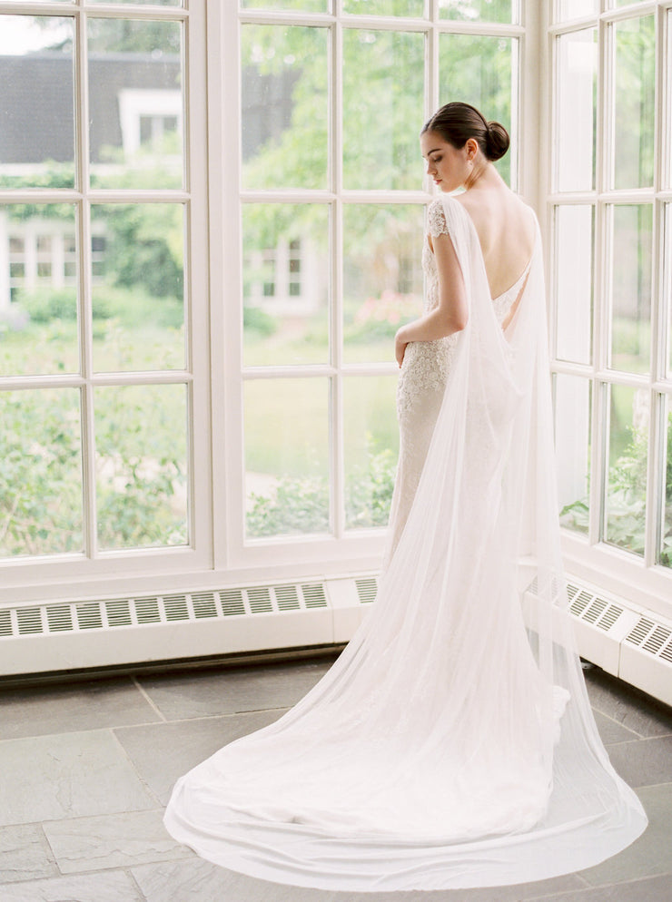 MARION | Silk Bridal Cape