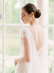 MARION | Silk Bridal Cape | Noon on the Moon