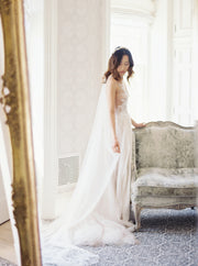 NATHALIE | French Silk Wedding Veil | Noon on the Moon