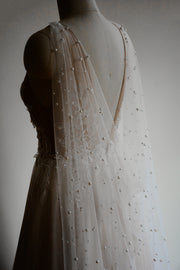 NEBULA | Bridal Cape with Pearls