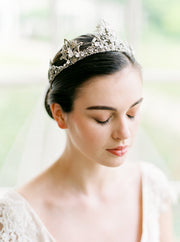 NIA | Silver Crystal Wedding Crown