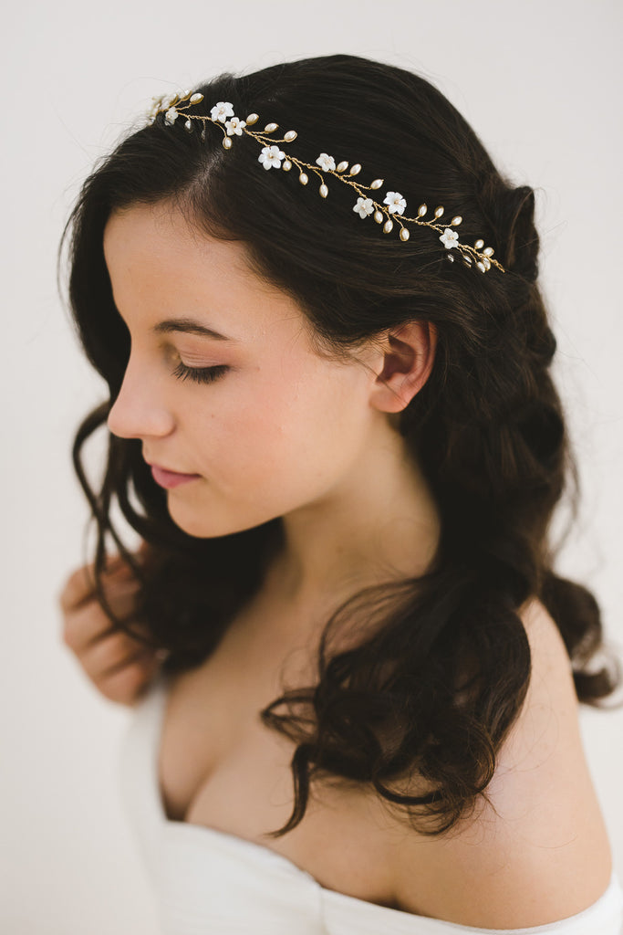 GISELLE Bridal Hair Vine | www.noononthemoon.com | Noon on the Moon Bridal | Wedding Hair Accessories
