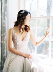 ODETTE | Floral Wedding Tiara | Noon on the Moon