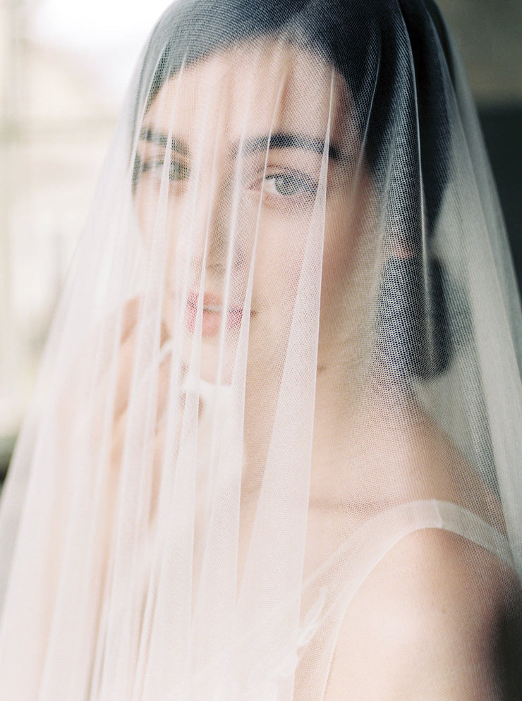OPHELIA | French Silk Wedding Veil | Noon on the Moon