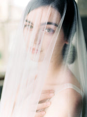 OPHELIA | French Silk Wedding Veil - Noon on the Moon