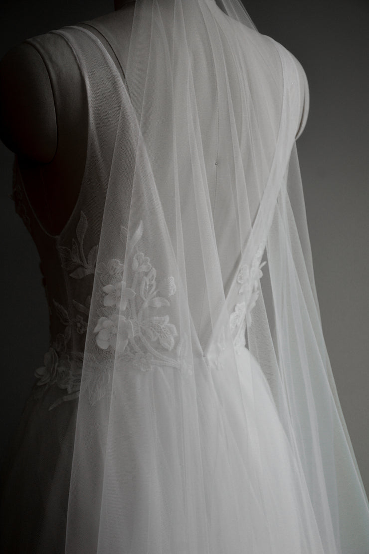 PAIGE | Ultra Sheer Wedding Veil - Noon on the Moon