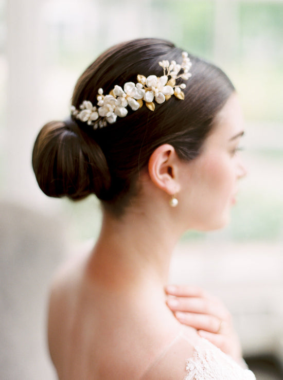 PALOMA | Keshi Pearl Bridal Headpiece