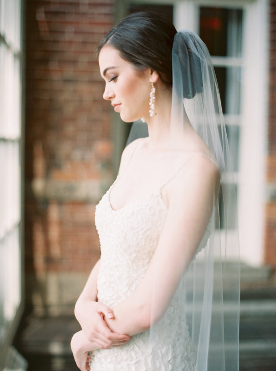 QUINN | Minimalist Wedding Veil - Noon on the Moon