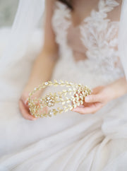 REINA | Crystal Wedding Crown | Noon on the Moon