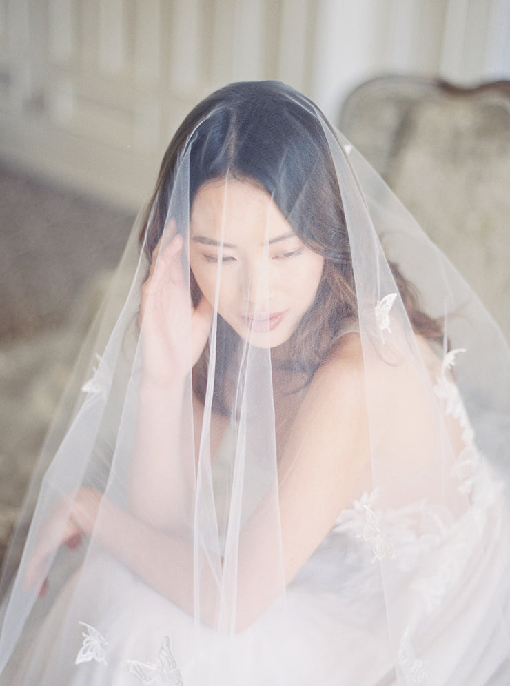 REVERIE | Embellished Wedding Veil with Butterflies