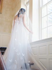 REVERIE | Embellished Wedding Veil with Butterflies | Noon on the Moon