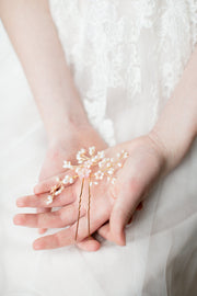 SAKURA | Floral Wedding Hair Pin | Noon on the Moon