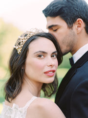 SOFIA | Pearl and Crystal Wedding Crown | Noon on the Moon